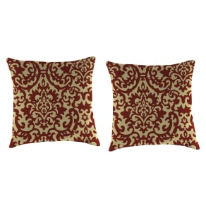 Outdoor Set Of 2 Accessory Toss Pillows In Duncan Jewel - Jordan Manufacturing, Harvest Red