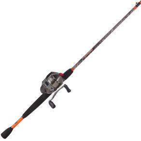 Zebco 33max Camo 6ft 6in 2-Pc Mh Spincast Combo, Green/Orange/Silver