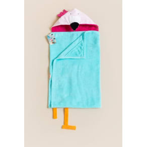 Girls' Mud Pie Flamingo Hooded Towel