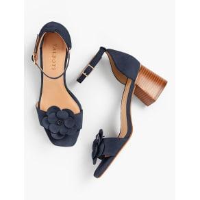Talbots: Siena Flower Sandals: Kid Suede