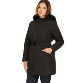 Studio 8 Sizes 12-26 Black Jamie Puffer Coat