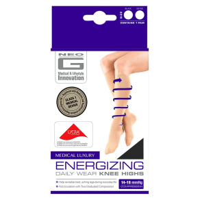 Neo G Energizing Daily Wear Knee Highs Black - Extra Large