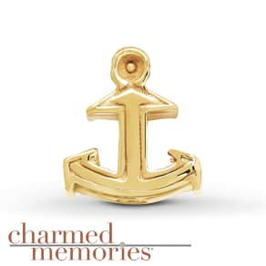 Charmed Memories Anchor Charm Sterling Silver/14K Gold-Plated