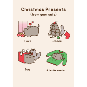 Hype Pusheen Christmas Presents Card
