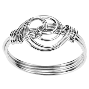 Tressa Collection Handcrafted Swirl Knot Ring in Sterling Silver - Silver (8), Girl's