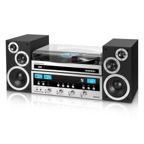 Innovative Technology Itcds-6000 Classic 50 Watt Cd Stereo System With Record Player and Bluetooth