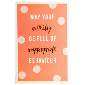 Meraki Inappropriate Behaviour Greeting Card