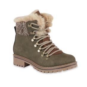 Sm New York Juniors' Skyler Green Fashion Winter Boot, Women's, Size: 10
