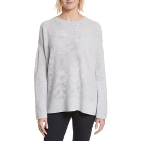 Women's Theory Cinch Sleeve Cashmere Sweater, Size Petite - Grey