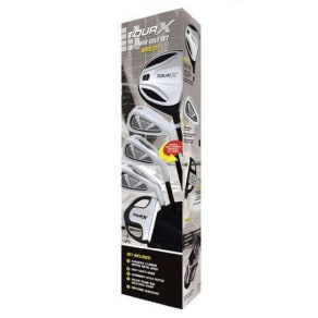 Merchants of Golf Tour X Size 3 Ages 12+ 5pc Jr Golf Club Set W/Stand Bag Right Hand