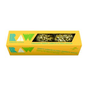 Raw Health Organic Zesty Lemon & Chia Energy Balls 60g - 60g