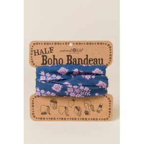 Half Boho Bandeau by Natural Life in Wall Flowers - Navy