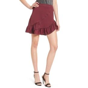 Women's Devlin Brielle Ruffle Miniskirt, Size 4 - Purple
