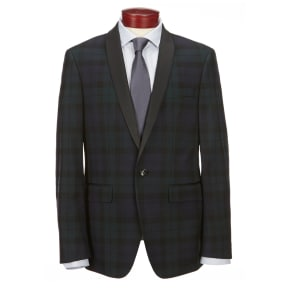 Murano Slim Shawl Collar Blackwatch Blazer