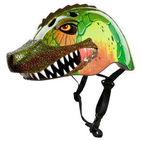 Raskullz 3D T-Rad Rex Child Helmet - Green