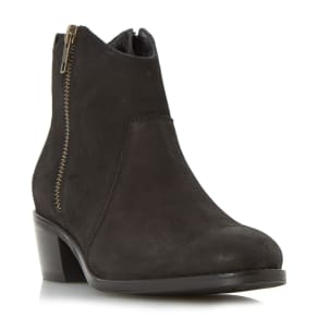 Linea Peatton Side Zip Western Boots, Black