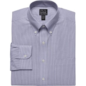 Traveler Tailored Fit Button Down Dress Shirt Clearance, by Jos. A. Bank