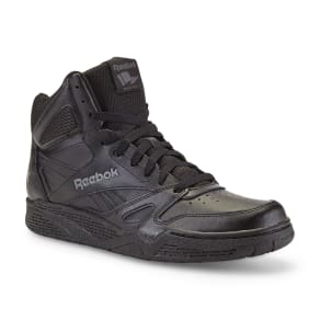 Reebok Men's Royal Bb4500 Leather High-Top Basketball Shoe - Black Wide Width Available, Size: 8