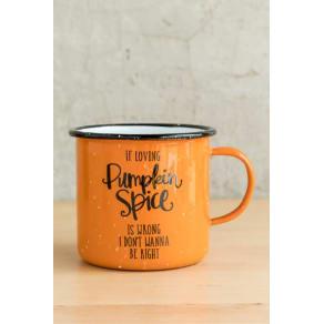 Pumpkin Spice Enamel Mug