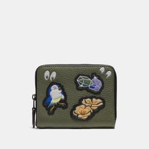 Coach Disney X Small Zip Around Wallet With Spooky Eyes Print