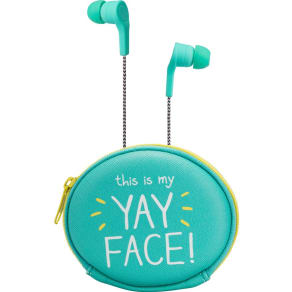 Happy Jackson Earbuds With Pouch `Yay!`