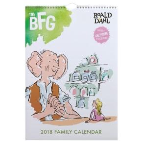 Roald Dahl Bfg A3 2018 Family Calendar