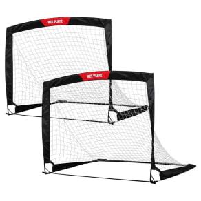 Net Playz Fold Up Soccer Goal, Set of 2, Black