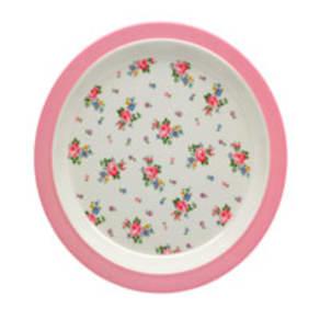 Hankie Rose Melamine Rim Plate