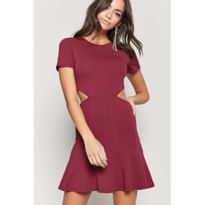 Fit and Flare Cutout Dress