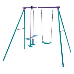 Plum Metal Single Swing With Glider