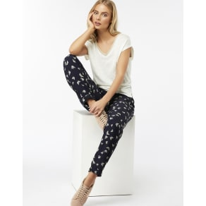 Roxi Butterfly Soft Printed Peg Trousers