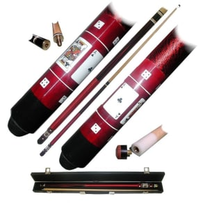 Trademark Global Red Royal Flush Poker Billiard Hardwood Pool Cue Stick