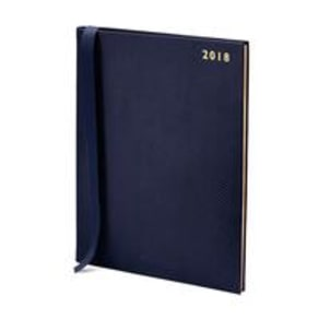 2018 A4 Quarto Diary Wtv Midnight Blue Lizard