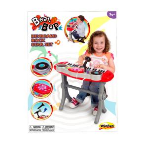WinFun Keyboard Rock Star Keyboard & Stool