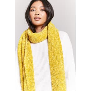 Chenille Oblong Scarf
