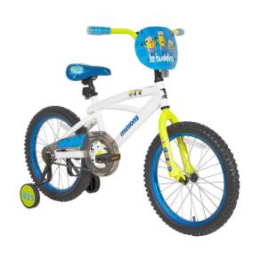 Minions 18 Kids' Bike With Training Wheels - White/Blue
