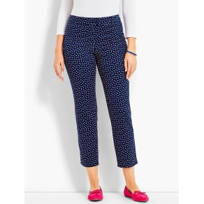 Talbots Women's Double Button Tab Perfect Crop: Curvy Fit/Dots