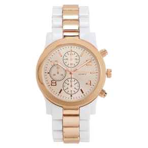 Two-Tone Metallic Watch