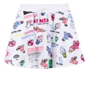 Kenzo Girls Skirt Cotton, White