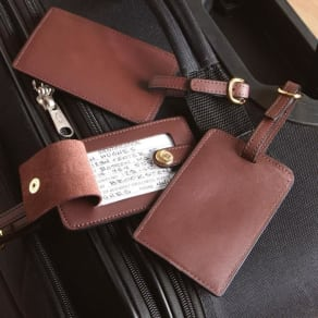 Royce Leather Luggage Tags, Set of 3