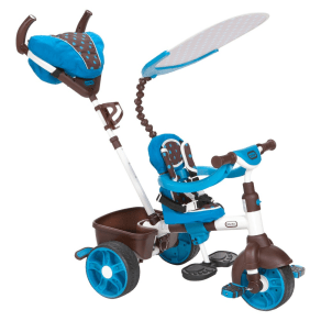 Little Tikes 4-In-1 Sports Edition Trike - Blue, Blue/White