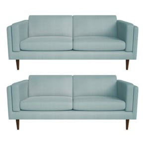 Debenhams Set of Two 3 Seater Tweedy Fabric 'Lille' Sofas