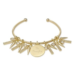Gold Spike Open Cuff - Gifts - Personalized at Things Remembered