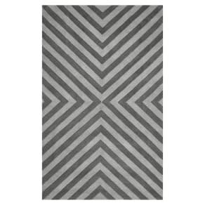 Herringbone Rug, 3x5, Charcoal