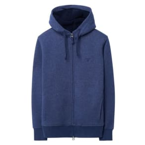 Faux Shearling Zip Hoodie - Persian Blue