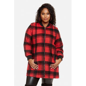 Plus Size Red Cape Bomber by Fashion to Figure