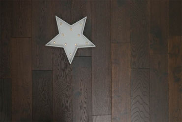 Natural Engineered Flooring Oak Black Tea Brushed UV Oiled 14/3mm By 150mm By 400-1500mm