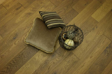 Natural Engineered Oak Smoked Brushed UV Oiled 14/3mm By 190mm By 400-1500mm
