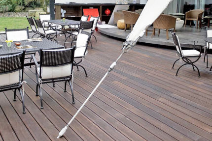 Moso Bamboo X-Treme Ribbed Hardwood Decking Using Hidden Fixing 20mm By 137mm By 1850mm