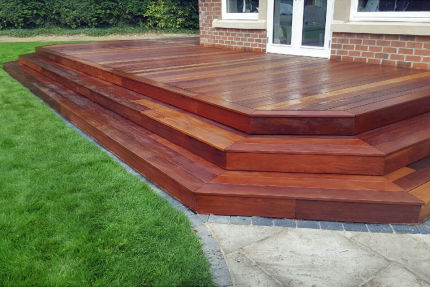 Ipe Hardwood Decking Boards Using Hidden Fixing 21mm By 145mm By 1219-3048mm